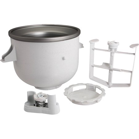 KitchenAid KICA0WH Ice Cream Maker Attachment,  includes freeze bowl, dasher and drive assembly,