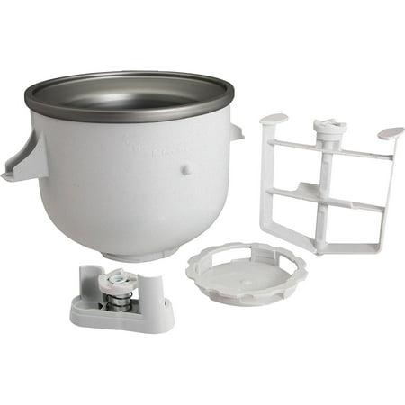 KitchenAid KICA0WH Ice Cream Maker Attachment, includes freeze bowl on