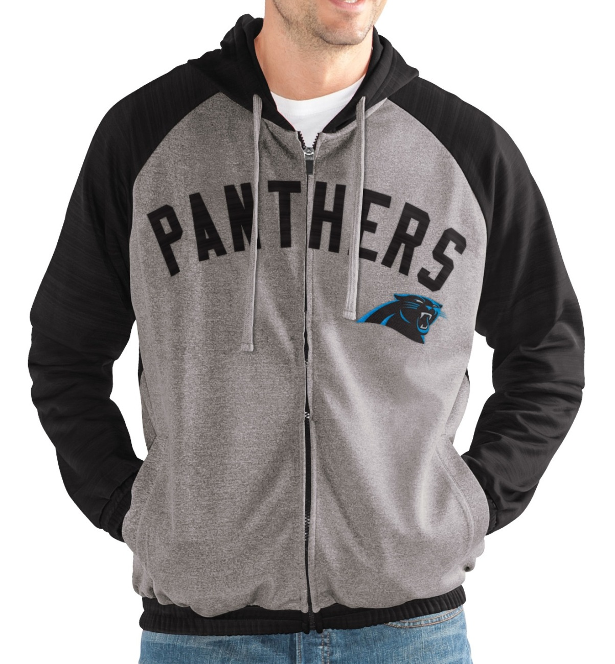 "Carolina Panthers NFL G-III ""Legend"" Men's Full Zip Embroidered Track Jacket"