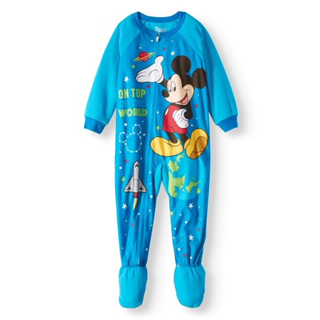 Mickey Mouse Toddler Boys' Microfleece Footed Blanket Sleeper (Mickey Mouse Tv For Sale)