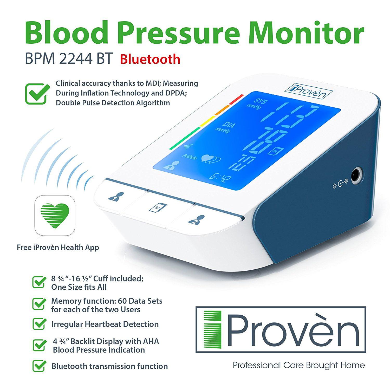 iProvèn Blood Pressure Monitor BPM-2244BT