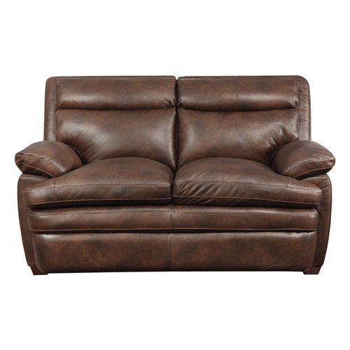 At Home Designs Clarkston Leather Reclining Loveseat