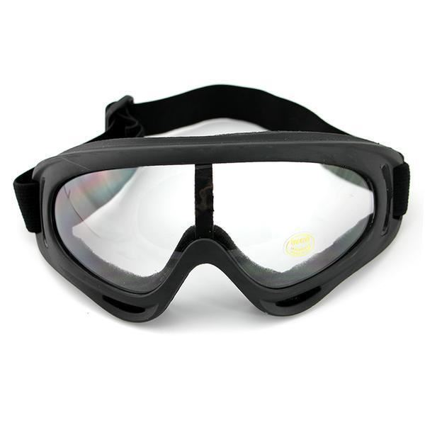 Windproof UV400 Motorcycle, Bicycle, Snowmobile Ski Protective Goggles Transparent by