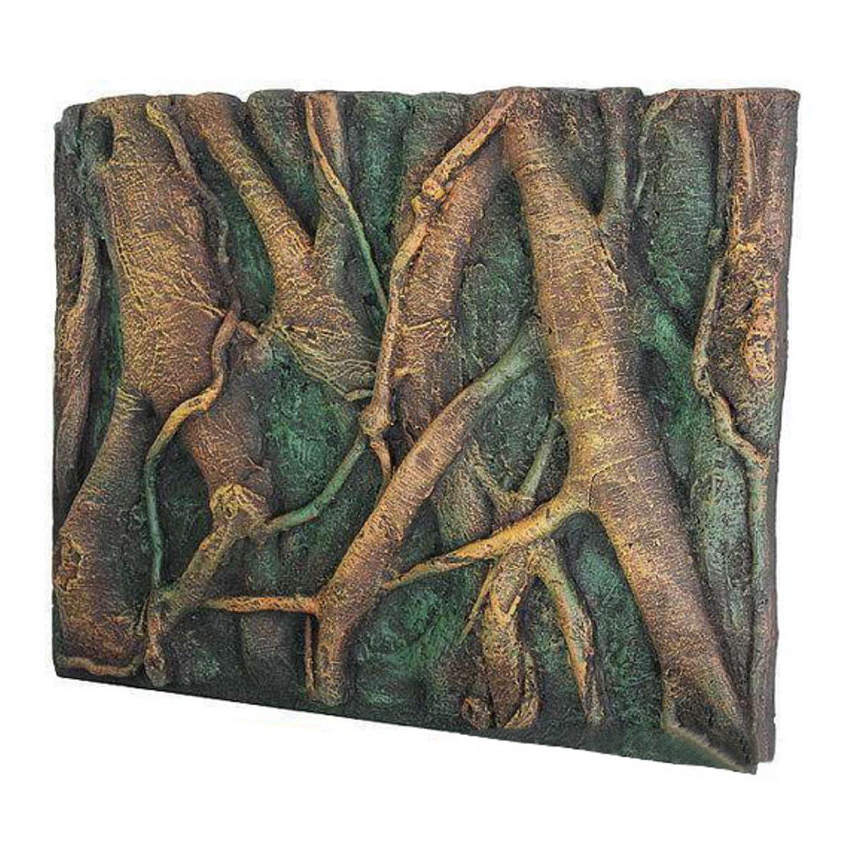 3D PU Aquarium Background,3D PU Tree Root Reptile Aquarium Fish Tank Background Board Plate Decor 60x45cm by