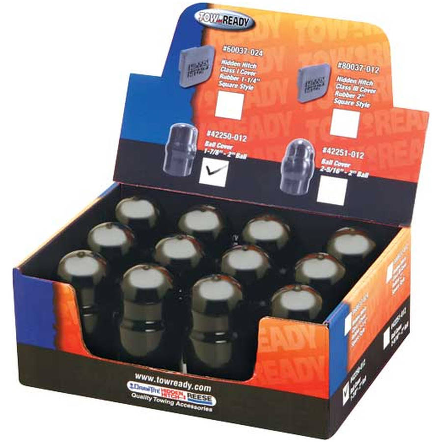 """(Pack Of 12)2 5/16"""" Black Ball Cover Replacement Auto Part, Easy to Install"""