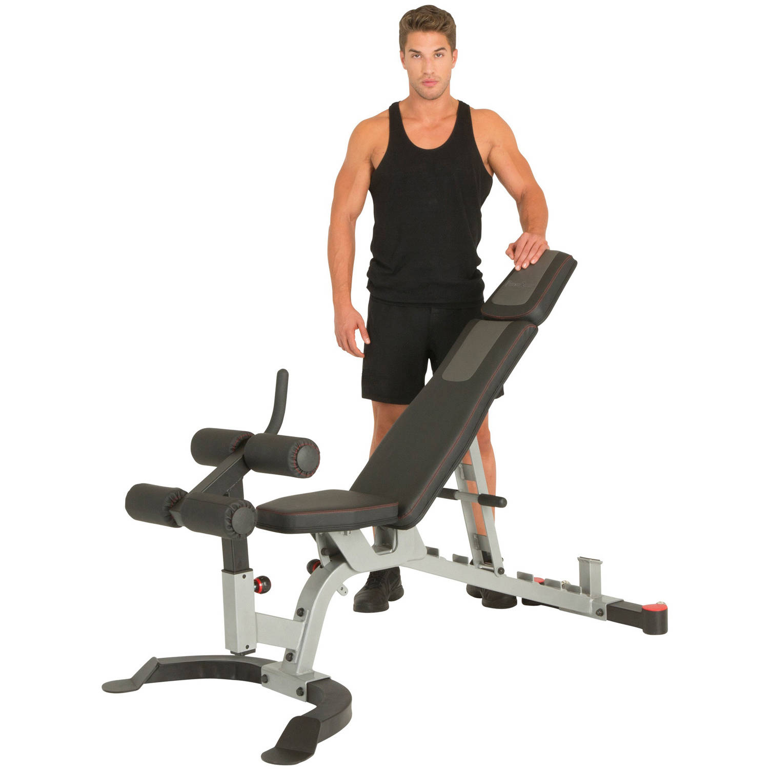 FITNESS REALITY X-Class 1500 lb Light Commercial Adjustable Utility FID Weight Bench with Detachable Leg Lock Down