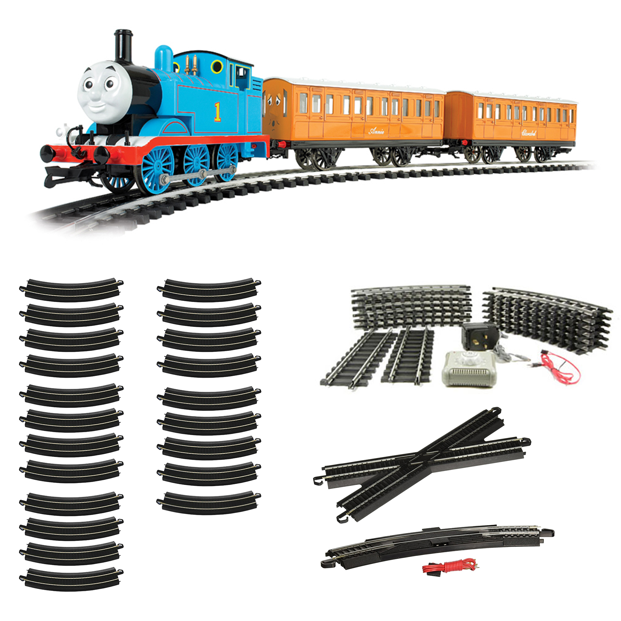 Bachmann Trains Thomas HO Scale Train + Steel Alloy E-Z Track Figure 8 Track
