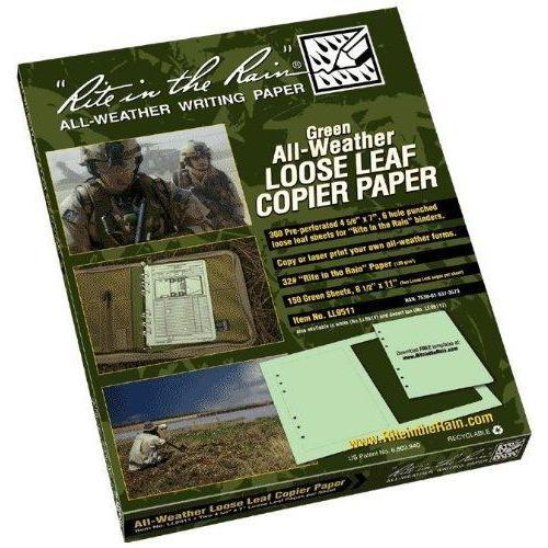 Rite In The Rain Copier Paper - Loose Leaf - Tan - 150 Sh (300 Forms) #LL9511T
