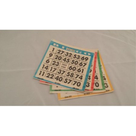 Bingo Paper Game Cards - 1 card - 4 sheets - 100 books of 4 sheets - Halloween Bingo Sheets Printables