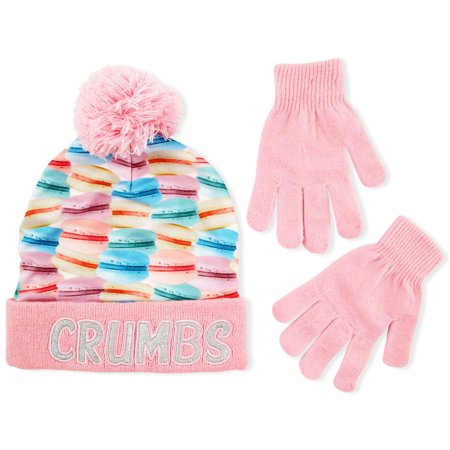 56e53882161 Cuffed Beanie Hat and gloves Cold Weather Set