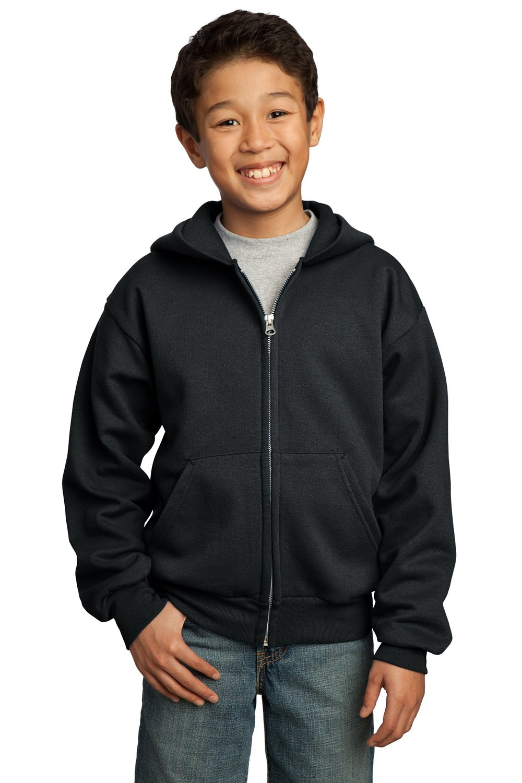 Port & Company Youth Full-Zip Hooded Sweatshirt