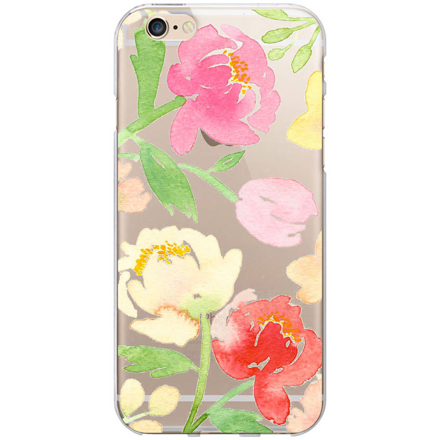 OTM Artist Prints Clear Phone Case for Apple iPhone 6, Peonies Gone Bright