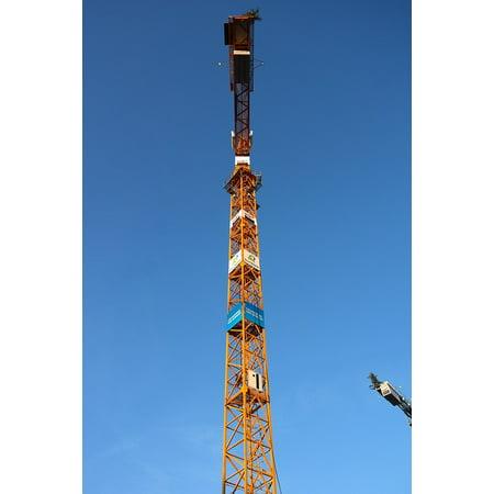 LAMINATED POSTER Crane Construction Work Sky Site Build Baukran Poster Print 24 x - Sky Crane