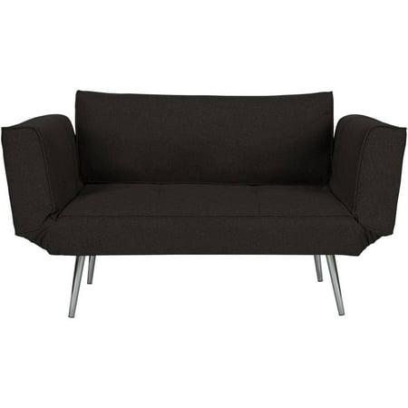 DHP Euro Linen Convertible Futon Couch, Multiple Colors