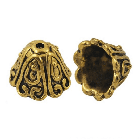 Tibetan Style Large Antique Gold Plated Lead-Free