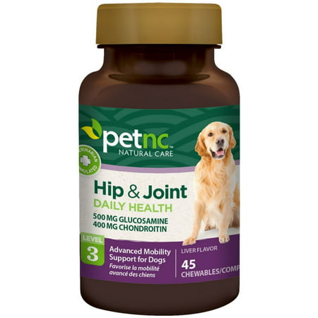PetNC Natural Care Hip & Joint Advanced Mobility Chewable Support  for Dogs, Liver Flavor 45 (Advanced Joint Support)
