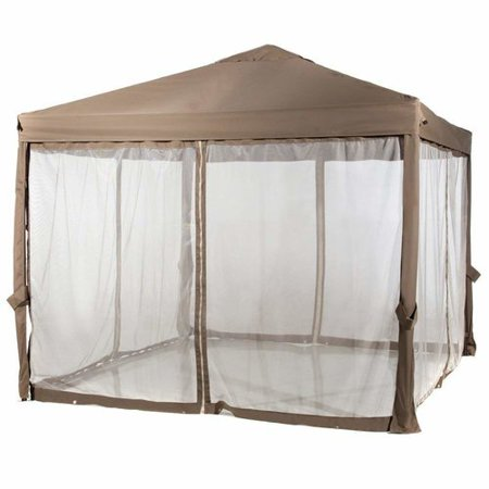 Abba Patio 10x10 Feet Fully enclosed Garden Canopy with Mesh Insect Screen - -