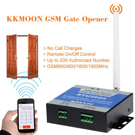 Walmart 1800 Call In Number >> Kkmoon Gsm Door Gate Opener Remote On Off Switch Free Call Sms