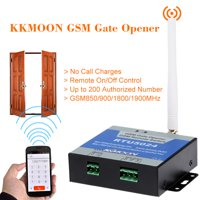 KKmoon® GSM Door Gate Opener Remote On/Off Switch Free Call SMS Command Support 850/900/1800/1900MHz