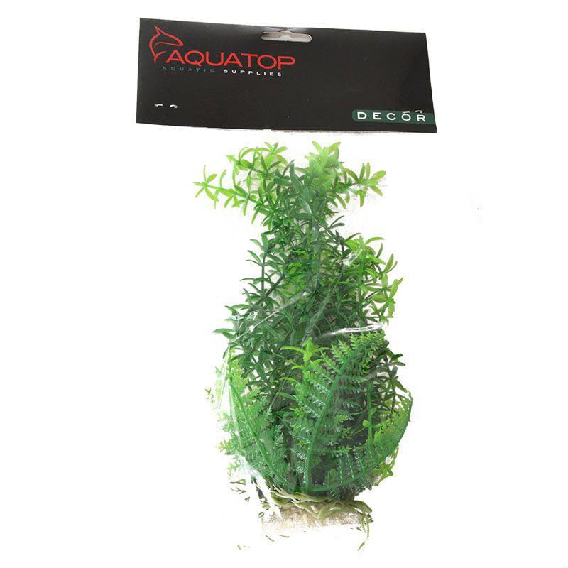 Aquatop Anacharis Aquarium Plant - Green 9 High w/ Weighted Base - Pack of 6