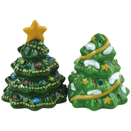 Tree Shaped Giftware (Holiday Christmas Trees Salt and Pepper Shakers Set Westland Giftware)