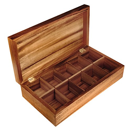 Ironwood Gourmet, Acacia Wood, 14.75-inch by 7.75-inch by 3.75-inch by 2-inch Tea Box