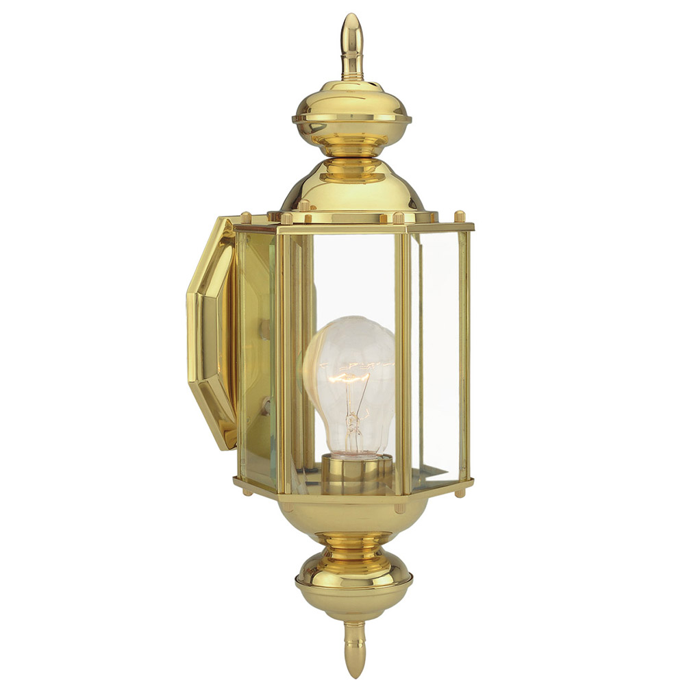 Design House 501692 Augusta 1-Light Indoor/Outdoor Wall Light, Solid Brass