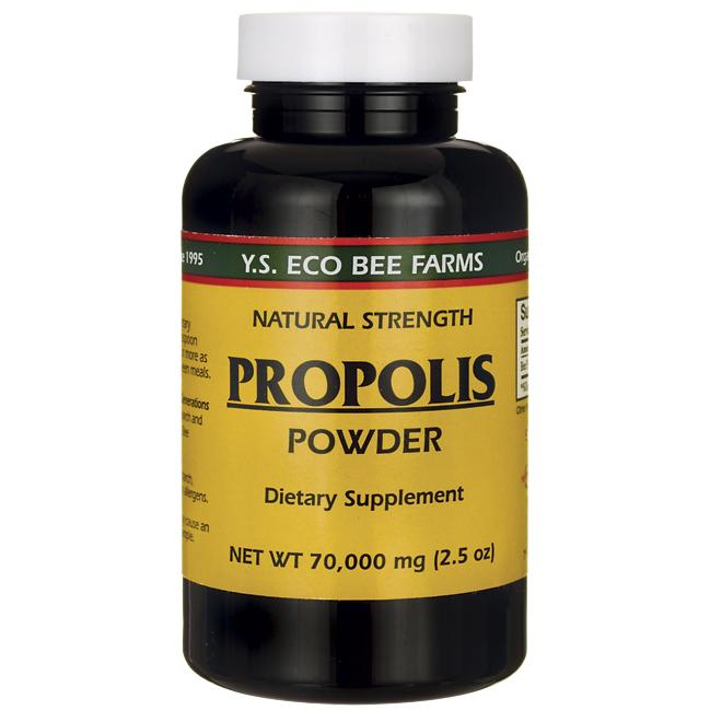 Ys Organics Royal Jelly/Honey Bee - Propolis Powder, 70,000 mg, 2.5 oz Powder