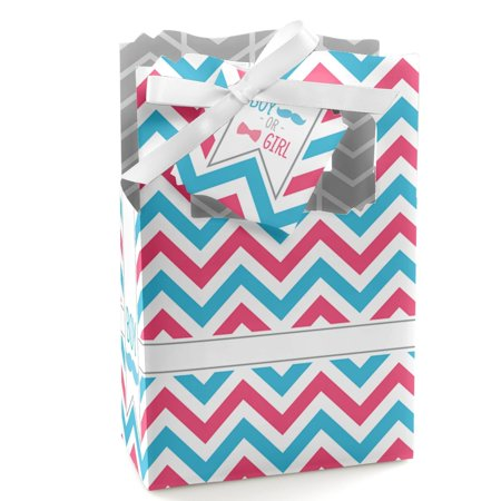 Chevron Gender Reveal - Baby Shower Party Favor Boxes - Set of 12](Gender Reveal Boxes)