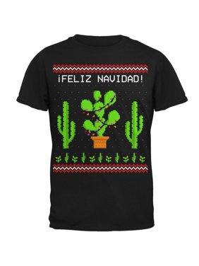 162dce18742f8 Product Image Cactus Desert Feliz Navidad Ugly Christmas Sweater Mens T  Shirt