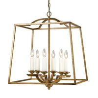 Golden Lighting 3072-6P Athena 6 Light Multi Light Pendant