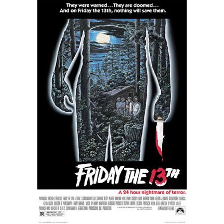 Friday The 13th Poster - 24H Nightmare Of Terror - New 24x36