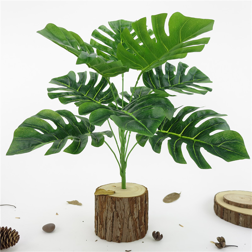 Micelec 1Pc Monstera Office Home Artificial Plant High Simulation Fake Foliage Leaf
