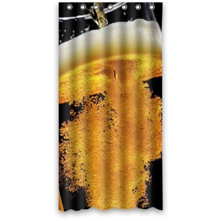 Ganma Beer Shower Curtain Polyester Fabric Bathroom 36x72 Inches