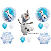 NEW!! OLAF SNOWFLAKES Balloons Birthday party Decoration Supplies Frozen Elsa