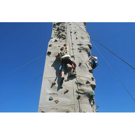 LAMINATED POSTER Rock Climbing Lads Climb Wall Boys Fun Adventure Poster Print 24 x 36](Fun Adventure Maps)
