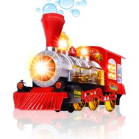 CifToys Bubble Blowing Toy Train - Battery Powered Steam Bubbles Locomotive Engine Car- Colorful Lights & Fun Sounds - Constant Motion & Automatic Change of Direction ? 3 and Up