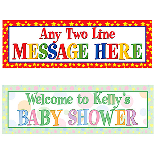 Personalized Any Message Celebration Banner, 6', Pastel