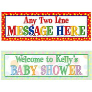 "Personalized Any Message Celebration 72""L x 24""W Banner, Pastel"
