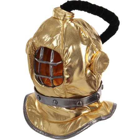 Elope Inc Plush Diving Bell Helmet Mask Halloween Costume Accessory for Children or Adults, One Size Fits (Children's Scuba Diving Costume)