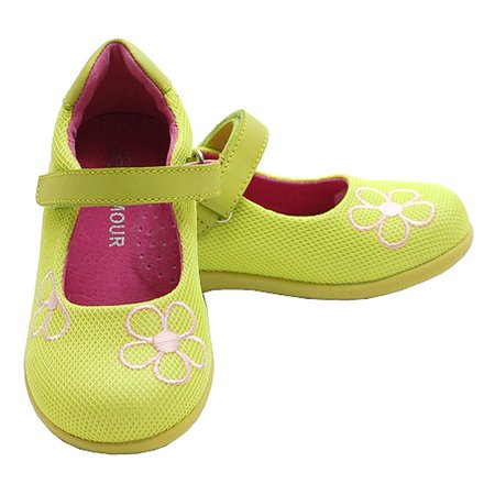 Toddler Little Girl Lime Green Mesh Flower Mary Jane Shoe 5-2](Green Girls Shoes)