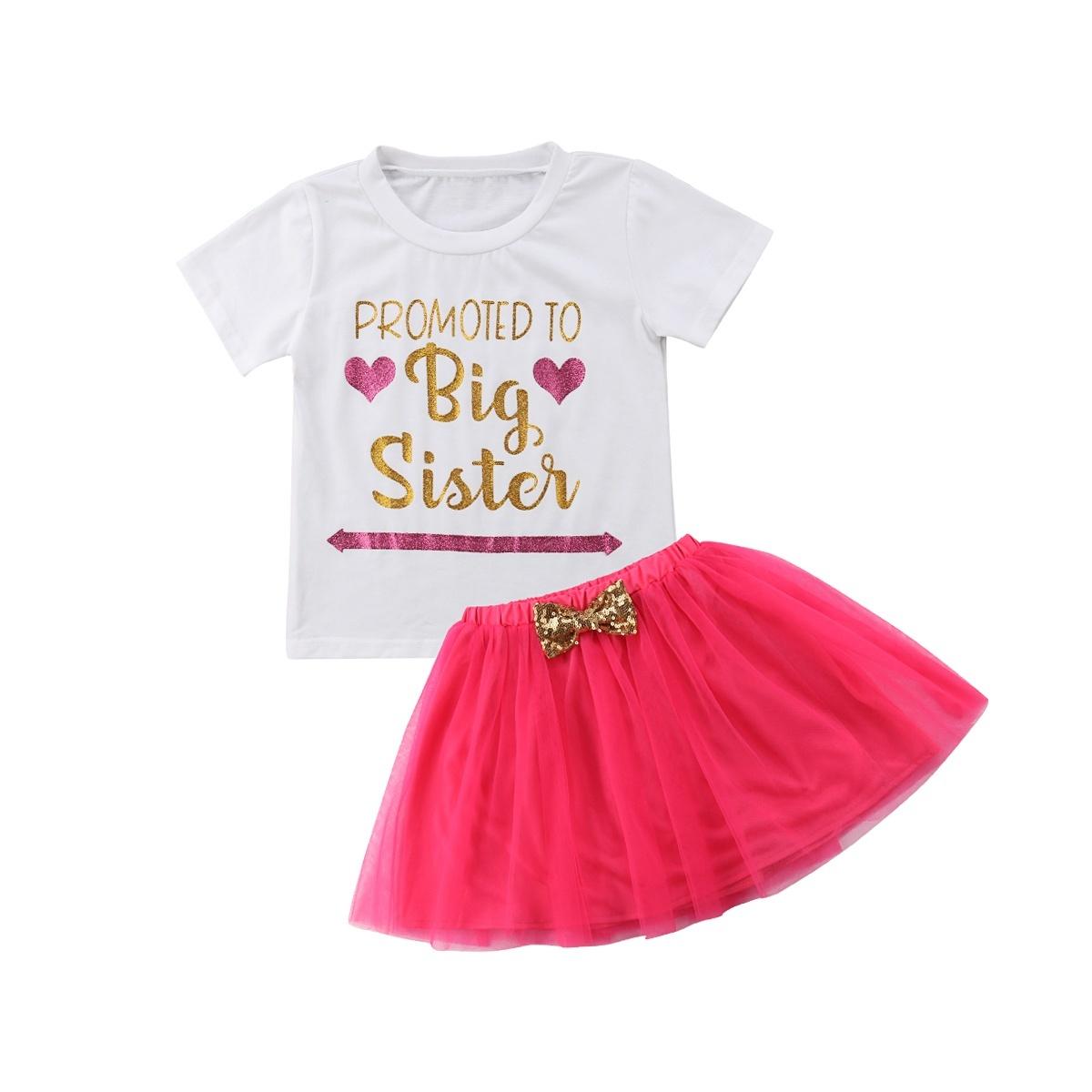 Girls Cute Cat T-Shirt Tops Tutu Dress Skirt Club Party Casual 2PCS Costume Set