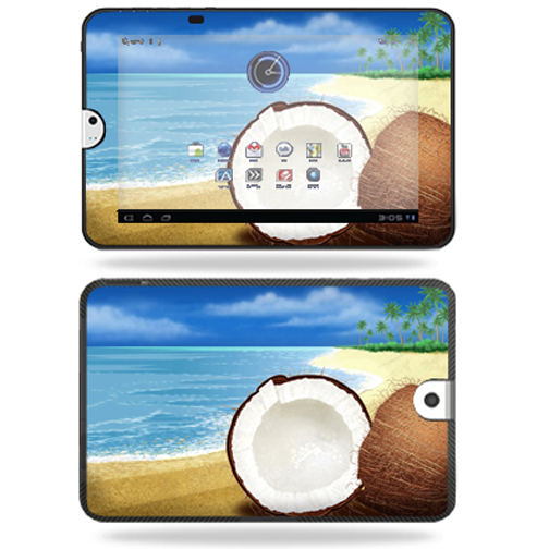 Mightyskins Protective Vinyl Skin Decal Cover for Toshiba Thrive 10.1 Android Tablet wrap sticker skins Coconuts
