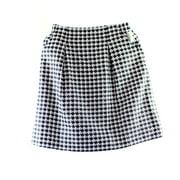 Classiques Entier NEW Black White Women's Size 6 Knit A-Line Skirt