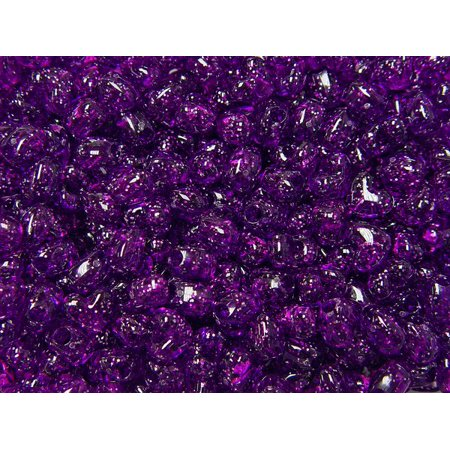 JOLLY STORE Crafts Dark Amethyst Sparkle Heart Shaped Pony Beads, Made in USA
