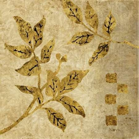 Gold Leaf Branches I Poster Print by Studio Nova