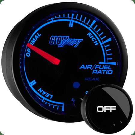 GlowShift Black Elite 10 Color Narrowband Air / Fuel Ratio - Autometer Air Fuel Ratio Gauge