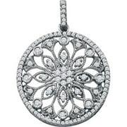 Gold and Diamonds GIP2950-W 0.48CT-DIA CIRCLE PENDANT- Size 7