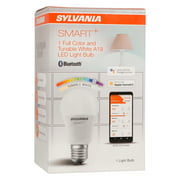 SYLVANIA Smart Bluetooth LED Light Bulb, A19, 10.5W, Full Color, Tunable, Dimmable, 2700K-6500K, White, Works with Amazon Alexa, Apple HomeKit and Google Assistant, 1 Pack