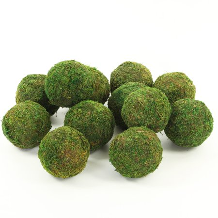 Koyal 12-Pack Green Moss Balls, 4-Inch - Graduation Ball Themes